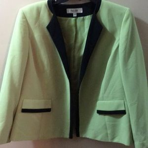 Spring color lime green and black jacket
